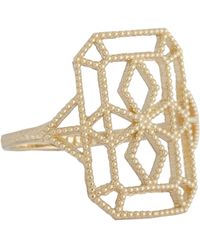 Grace Lee - Metallic Women's Gold Lace Deco Ring Viii - Lyst