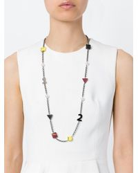 Eshvi | Black 'back To School' Numbers Necklace | Lyst