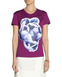 Jonathan Saunders - Purple Printed Cotton-jersey T-shirt - Lyst