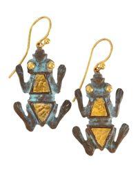 Gurhan - Metallic Pantheon Bronze Frog Earrings - Lyst