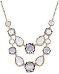 INC International Concepts | Multicolor Gold-tone Multi-stone Bib Necklace | Lyst