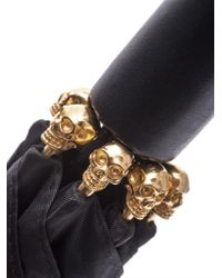 Alexander McQueen | Black Skull-detailed Umbrella | Lyst
