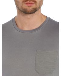 Kenneth Cole - Gray Reuben T-shirt With Textured Pocket for Men - Lyst
