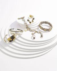 Konstantino - Metallic Three Mother Of Pearl Charm Bracelet - Lyst