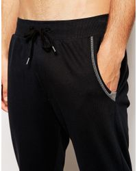 DIESEL | Black Cuffed Joggers In Slim Fit for Men | Lyst