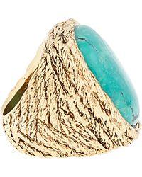 Aurelie Bidermann - Metallic Turquoise Braided Rope Miki Dora Statement Ring - Lyst