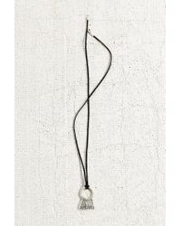 Urban Outfitters - Metallic Sanded Dreams Suede Pendant Necklace - Lyst