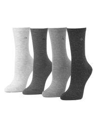 Calvin Klein | Gray 4-pack Crew Socks | Lyst