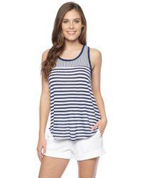 Splendid | Blue Monterosso Stripe Tank | Lyst