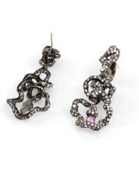 Arunashi - Pink Sapphire Free Form Earrings - Lyst
