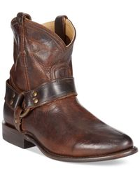 Frye | Brown Fyre Women's Wyatt Harness Booties | Lyst
