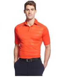 Under Armour | Orange Coldblack Forged Stripe Heatgear Golf Polo for Men | Lyst