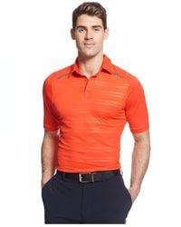 Under Armour - Orange Coldblack Forged Stripe Heatgear Golf Polo for Men - Lyst