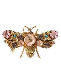 Betsey Johnson | Pink Queen Bee Beaded Bangle | Lyst