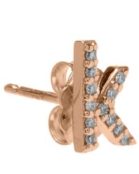 KC Designs | Pink Rose Gold Diamond K Single Stud Earring | Lyst