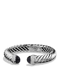 David Yurman - Metallic Waverly Cable Bracelet With Black Onyx & Diamonds - Lyst