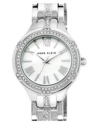 Anne Klein - Metallic Crystal Accent Bracelet Watch - Lyst
