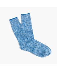 J.Crew   Blue Marled Cotton Socks   Lyst