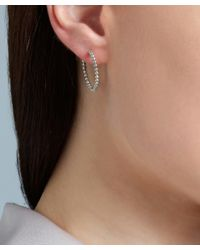 Astley Clarke - Metallic Gold-plated Beaded Hoop Earrings - Lyst