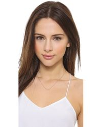 Jennifer Zeuner | Pink Maxine Mini Necklace - Rose Gold | Lyst