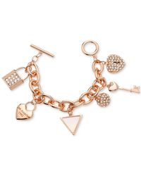 Guess | Pink Charm Toggle Bracelet | Lyst