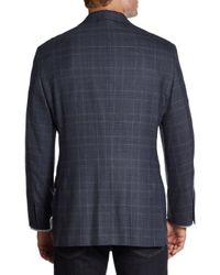 Hickey Freeman - Blue Glen Plaid Wool Sport Coat for Men - Lyst