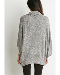 Forever 21 - Black Contemporary Marled Cowl Neck Sweater You've Been Added To The Waitlist - Lyst