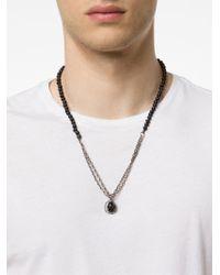 M. Cohen - Metallic Agate Skull Charm Necklace for Men - Lyst