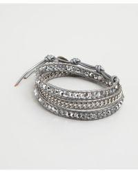 Chan Luu - Metallic Crystal and Chain Triple Wrap Bracelet - Lyst