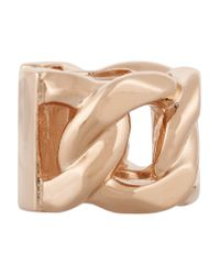 Givenchy | Metallic Chain Ring In Rose Gold-tone Metal | Lyst