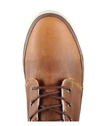 Napapijri | Brown Logo-Printed Leather Ankle Boots for Men | Lyst