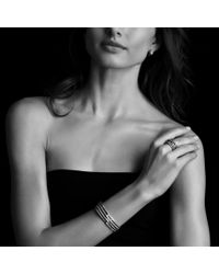 David Yurman - Metallic Labyrinth Singleloop Earrings with Diamonds - Lyst