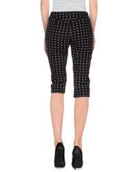 Pianurastudio - Black 3/4-length Trousers - Lyst