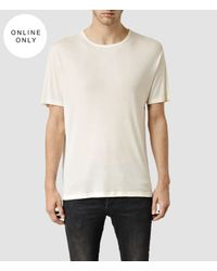 AllSaints | White Natalka Crew T-shirt for Men | Lyst