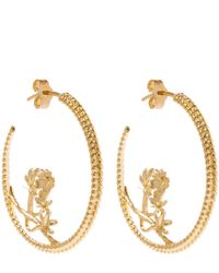 Alex Monroe - Yellow Gold Large Braided Cinquefoil Hoop Earrings - Lyst