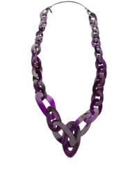 Monies - Purple Chain Link Necklace - Lyst
