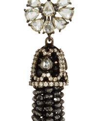 Sutra - Black Diamond Bead Chandelier Earrings - Lyst
