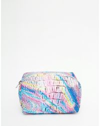 Jaded London | Multicolor Holographic Print Make-up Bag | Lyst