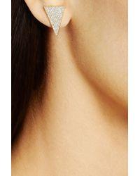 Jennifer Meyer - Metallic 18-Karat Gold Diamond Triangle Earrings - Lyst