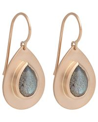 Irene Neuwirth | Pink Labradorite & Rose Gold Drop Earrings | Lyst