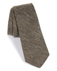 W.r.k. | Brown Silk & Cotton Tie for Men | Lyst
