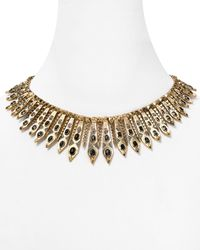 "House of Harlow 1960 - Metallic 1960 Gypsy Feather Pave Necklace, 16"" - Lyst"