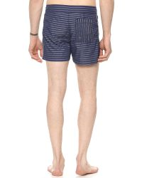 Parke & Ronen | Blue Stavros Swim Trunks for Men | Lyst