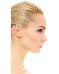 Shashi - Metallic Arrow Drop Earrings - Lyst