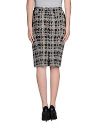 Nina Ricci - Black Knee Length Skirt - Lyst