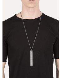 Parts Of 4 | Metallic Black Silver Plate Necklace Hole for Men | Lyst