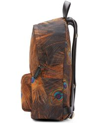 Givenchy | Brown Multicolor Feather Print Backpack | Lyst