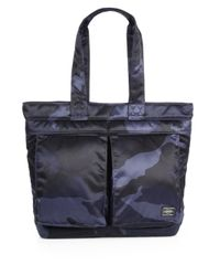 Porter | Blue Camo Tote Bag for Men | Lyst