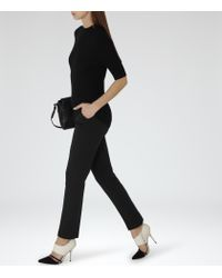 Reiss | Black Crema Tailored Trousers | Lyst