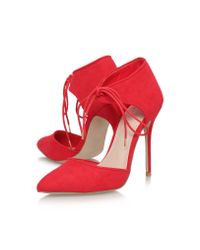 Carvela Kurt Geiger | Red Carmel High Heel Lace Up Shoe Boots | Lyst